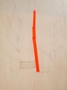 Dibujo germinal columna infinita
