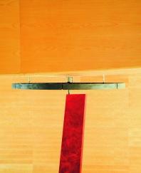 Detalle superior anclaje espejo pieza terminada
