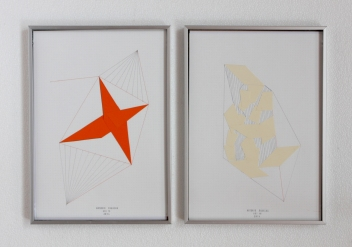 Anto Rabzas Serie UBI 17-18. Collage sobre papel y tinta. Sierra de Irta. 2014. 21 x 29.7