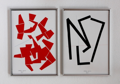 Anto Rabzas Serie UBI 04-11. Collage sobre papel y tinta. Sierra de Irta. 2014. 21 x 29.7