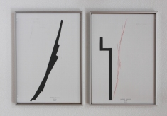 Anto Rabzas Serie UBI 01-02. Collage sobre papel y tinta. Sierra de Irta. 2014. 21 x 29.7