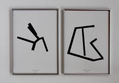 Anto Rabzas Serie UBI 05-08. Collage sobre papel y tinta. Sierra de Irta. 2014. 21 x 29.7