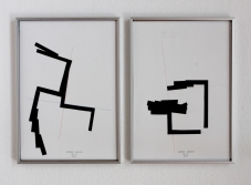 Anto Rabzas Serie UBI 06-07. Collage sobre papel y tinta. Sierra de Irta. 2014. 21 x 29.7