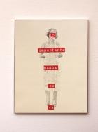 Anto Rabzas / Serie: El idioma de los pájaros / PA. 1 / 40 x 50 cm. 2015 collage y grafito sobre papel.