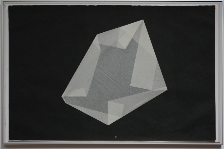 Marco montaje apaisado pliegue negro 3